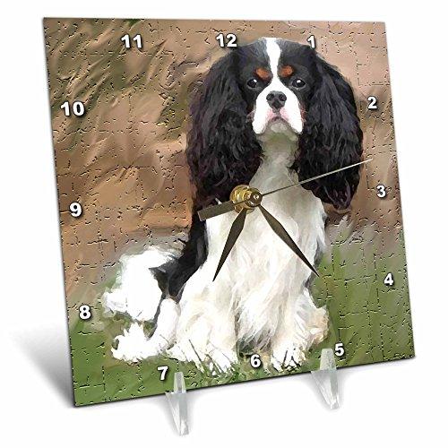 3dRose LLC Cavalier Spaniel Desk Clock, 6 by 6-Inch For Sale