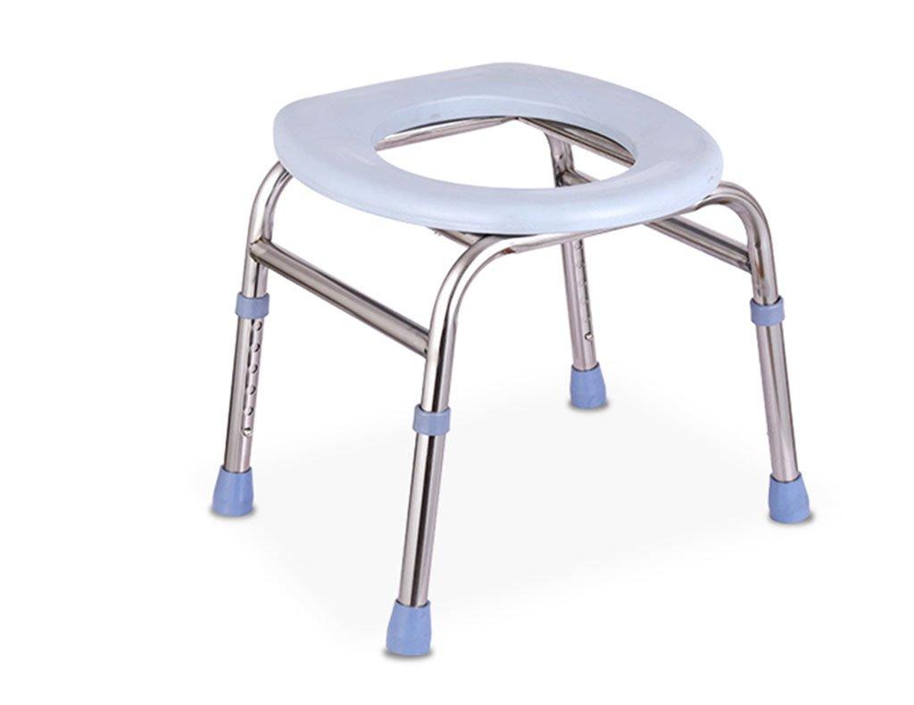 GRJH® トイレの椅子、高さ調節可能な厚い鋼管それは老人を移動することができます妊婦Commode 防水,環境の快適さ B079GHVD6K