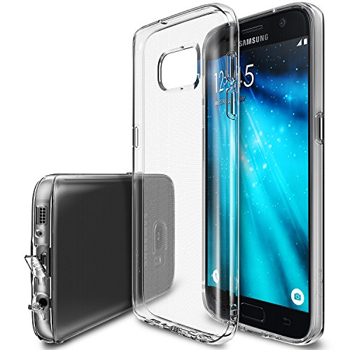 Galaxy S7 Case, Ringke [Air Series] Weightless as Air, Extreme Lightweight & Thin Transparent Soft Flexible TPU Scratch Resistant Protective Case for Samsung GalaxyS7 - Clear