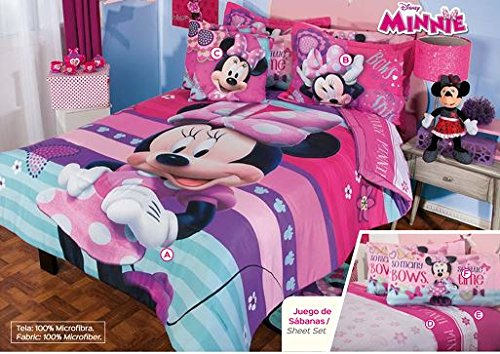 Disney Minnie Moda Complete Comforter Set (Queen) (Minnie Comforter Set)
