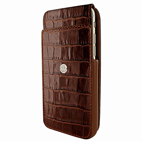 PIELFRAMA 685COM iMagnum Case Crocodile Apple iPhone 6 Plus in braun