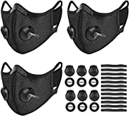 3 Set Sports Cycling Cover with Activated Carbon Filter, 6 Breathing Valve and 12 Soft Foam Padding for Women