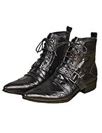 US Size 5-12 New Fashion Black Leather Mens Casual Dress Zip Ankle Boots Shoes