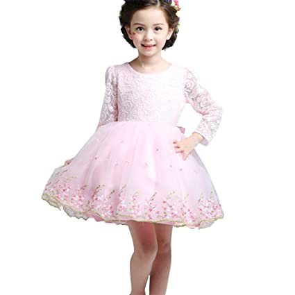 iikids 2016 Nuevo Vestido Tut de la princesa Linda vestido manga larga para ni
