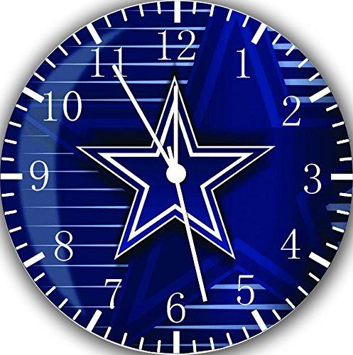 (Borderless Cowboys Frameless Wall Clock Z16 Nice for Decor Or Gifts)