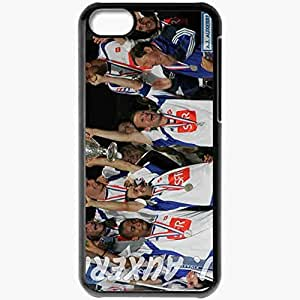 Personalized iPhone 5C Cell phone Case/Cover Skin AJA Ligue 1 0809 Football Federation Of France Auxerre Football Black