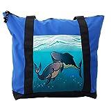 Lunarable Whale Shoulder Bag, Romantic Friends Couple, Durable with Zipper