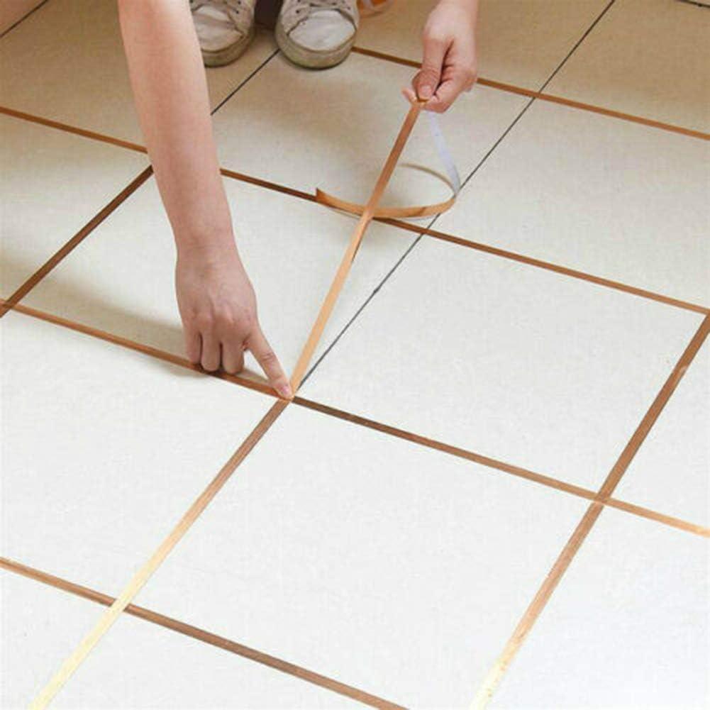 DirkFigge Self-adhesive Trim Edges Tape Decorative Corner Side Edges Strip Coving Adhesive for Floor Wall Ceiling Caulk Strip