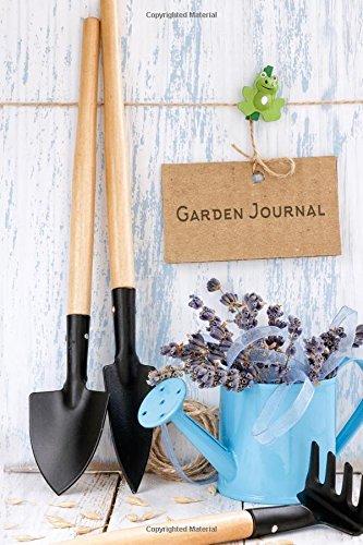 Garden Journal: Lavendar and Garden Tools Gardening Journal, Lined Journal, Diary Notebook 6 x 9, 150 Pages (Gardening Journals)