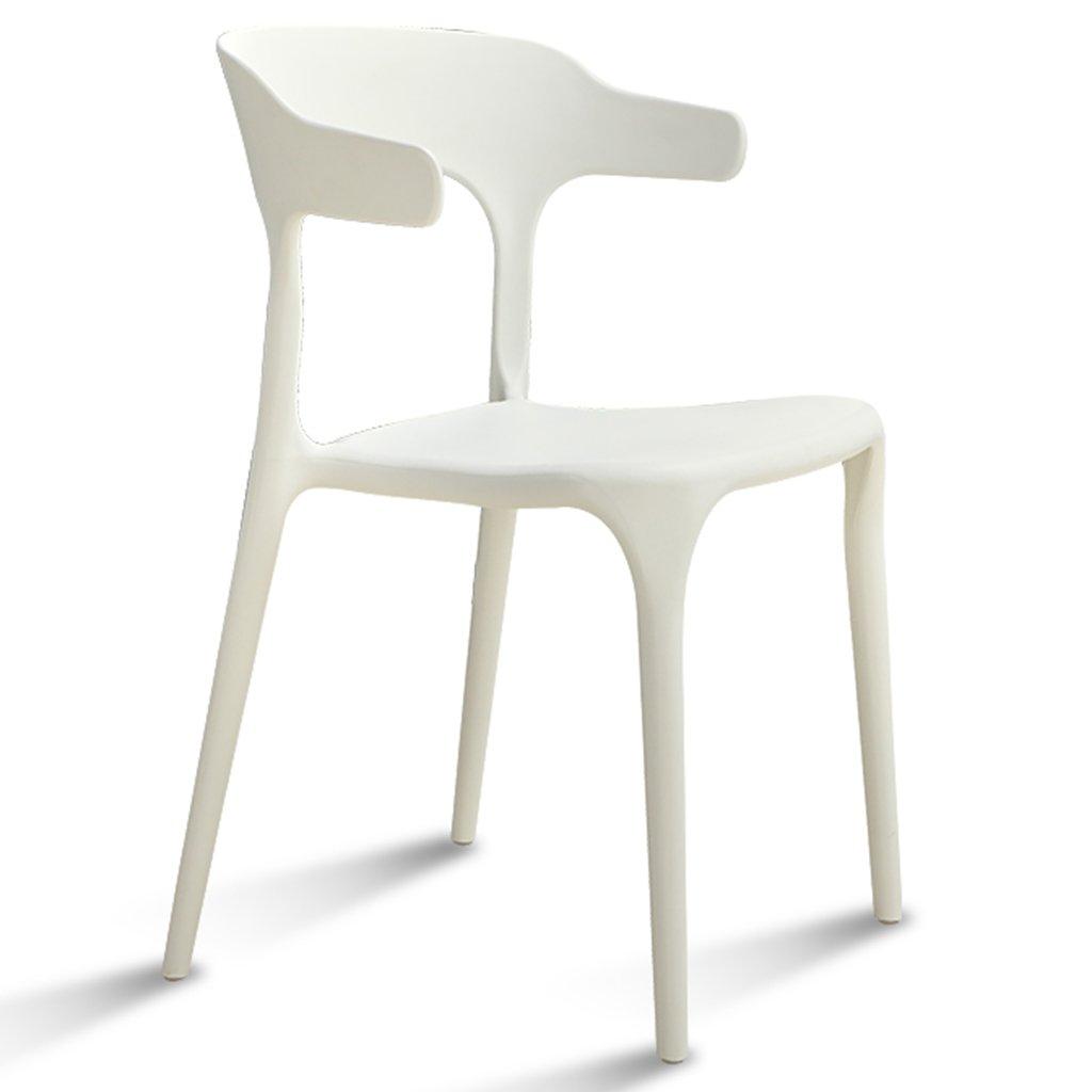 ブラックスタック可能な屋外の椅子防水性のプラスチック製のシート現代風の屋内レストランカフェホームスツール、4のセット (色 : 白, サイズ さいず : Set of 2) B07DWXTSTD Set of 2 白 白 Set of 2
