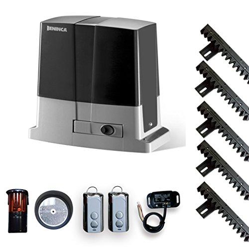 Beninca Bull 624R Slide Gate Opener, CPanel, Receiver, 2 Transmitter, photo cell, 5 Gear Rack Track