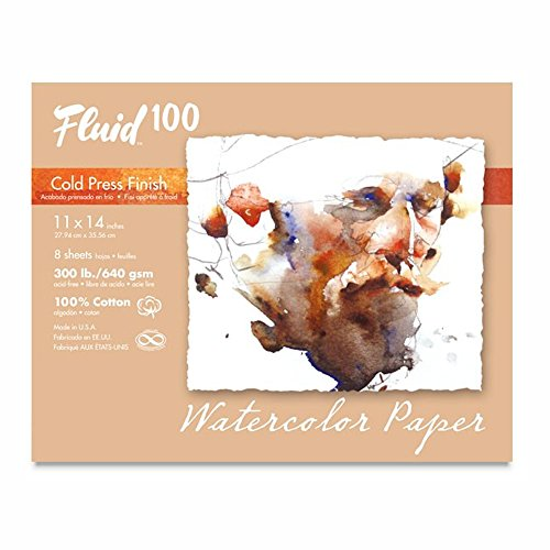 300 Lb Cold Press - Handbook Paper Fluid 100 Watercolor Cp 300Lb Pochette 11X14
