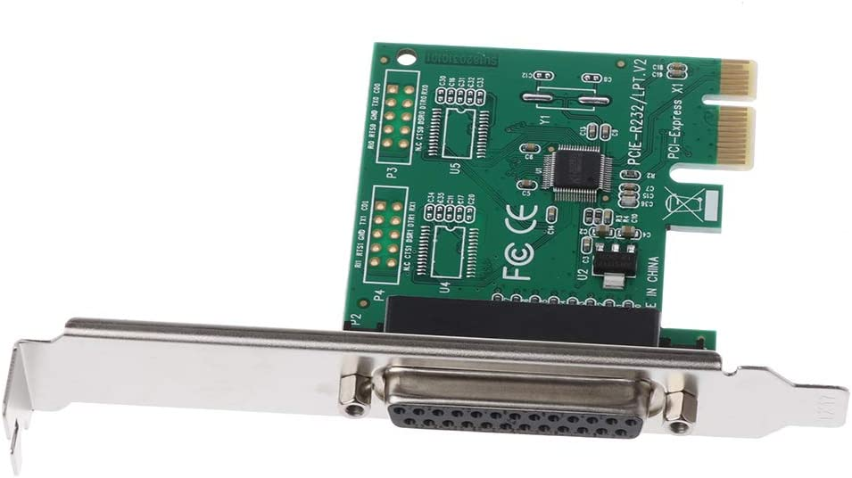 Huilier Parallel Port DB25 25Pin LPT Printer to PCI-E Express Card Converter Adapter 1pc