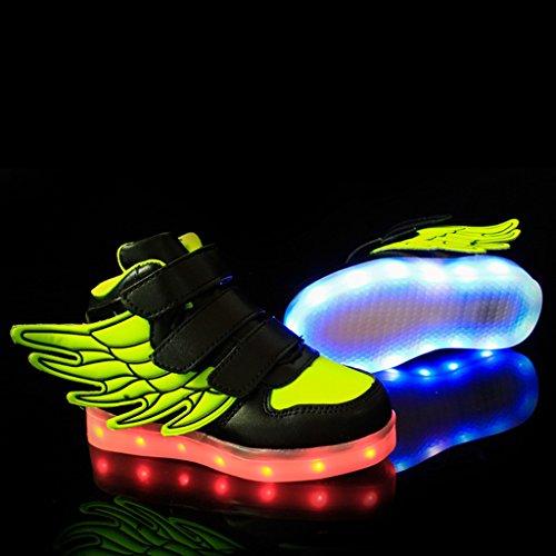 Scarpette Da Acconciatura Per Bambini Scarpe Da Ginnastica Per Bambini Con Sneakers Lampeggianti Per Il Miglior Regalo Di Natale Verde