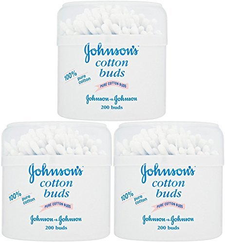 Johnson's Pure Cotton Swabs, 200 Count (Pack of ()