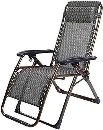 Sillones sillones sillas Plegables reclinables Tumbona reclinable por Gravedad Tumbona Mecedora reclinable Cama de jardín Silla reclinable con reposabrazos (Color: Haig Dimensiones: 72 * 68