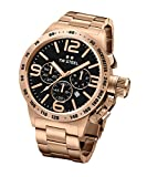 TW STEEL CB174 Mens 50mm Chrono Full Planting Yellow Gold&Gold Dial Watch