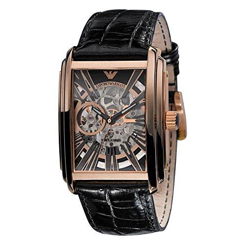 Emporio Armani AR4233 Mens Meccanico Skeleton Watch