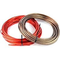 8 Gauge 50 BLACK and 50 RED Car Audio Power Ground Wire Cable 100 ft Total