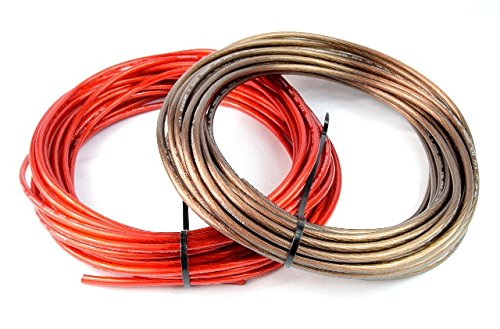 8 Gauge 50' BLACK and 50' RED Car Audio Power Ground Wire Cable 100' ft Total 8 Awg Wire