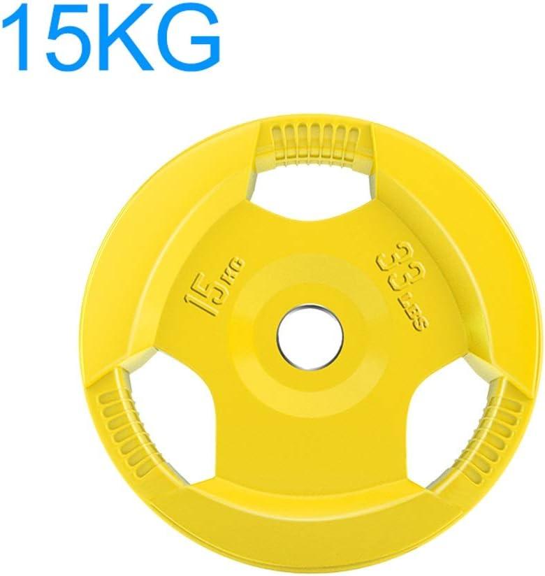 Hasayo Pesos con Barra Individual 10KG / 15KG / 20KG / 25KG Moldeada Olímpico de Hierro de 50 mm Pesos Placas centrales for el hogar Gimnasia de elevación Trabajar el Ejercicio Hombre