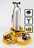 BROWNIES DOUBLE DIVER KIT W/ QRS FITTINGS First Stage and (2) Second Stages Y-Splitter 60' Down Hose (2) 20' Diver Hoses for Third Lung Scuba Diving Hookah