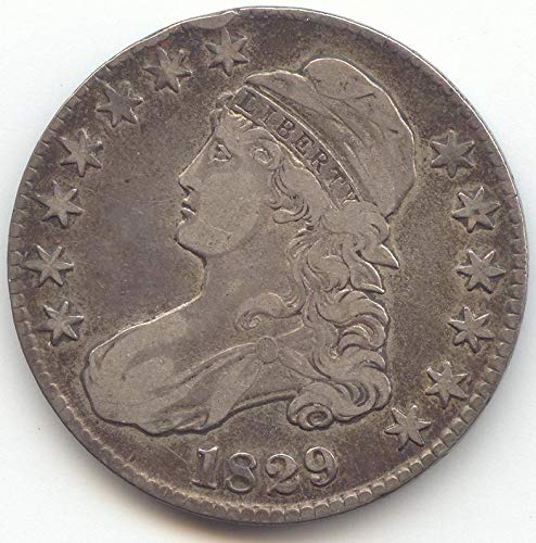 1829 Capped Bust Half Dollar Very Fine