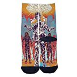 The Church of The Nervous System Socks Custom Socks Creative Socks for Men/Women Casual Cartoon Socks Black
