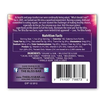 La barra de Bliss Chia Mulberry 5 hilos.: Amazon.com ...