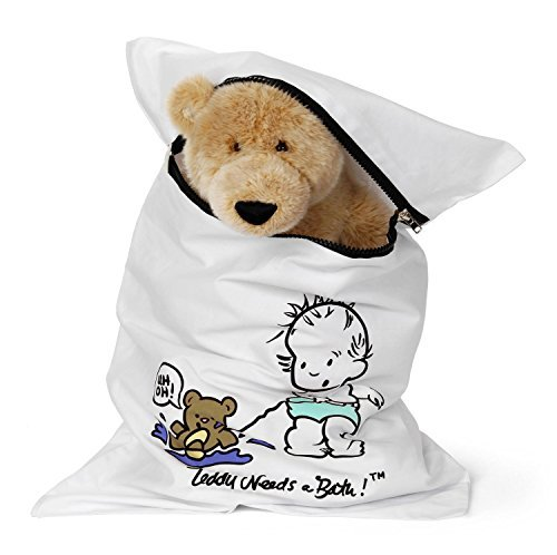 Teddy Needs a Bath | Washer and Dryer Laundry Bag To Clea...
