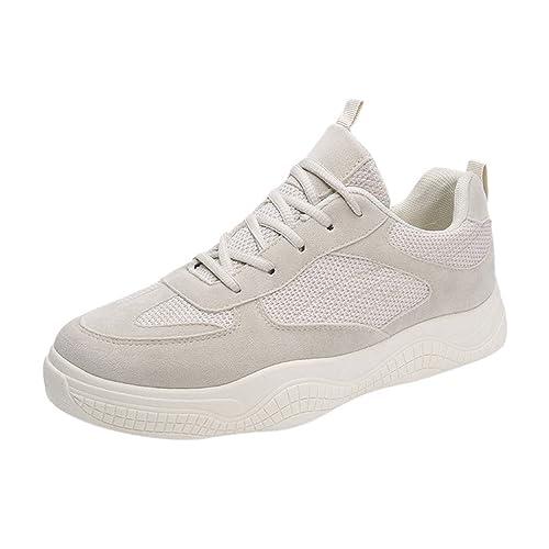 Zapatillas de Running para Hombre de Cordones Zapatillas de Deporte Unisex Adulto Transpirables Sneakers Hombres Zapatos Casuales para Correr Gimnasio Senderismo Aire Libre - Sencillo Vida: Amazon.es: Zapatos y complementos