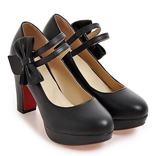 COOLCEPT Damen Buro Schuhe mit Absatz Pumps Black-1