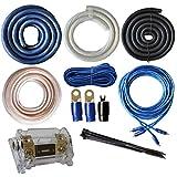 SoundBox Connected True 0 Gauge AWG Amp Kit Amplifier Wiring Complete Install Kit Cables 5000 Watt Peak Power Handling