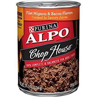 Purina ALPO Wet Dog Food, Chop House Filet Mignon & Bacon Flavor - (12) 13.2 oz. Cans