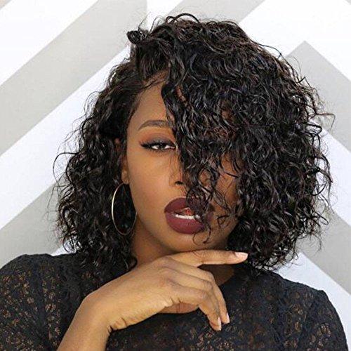 Full Lace Human Hair Short Wigs Curly For Women Brazilian