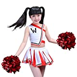 Girls Cheerleader Uniform Outfit Costume Fun Varsity Brand Youth Red and White