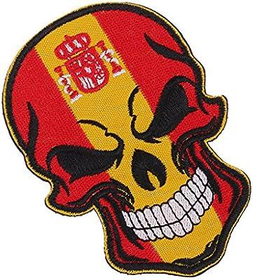 MagiDeal Parche Decorativo con Diseño de Bandera de Cráneo Costura ...
