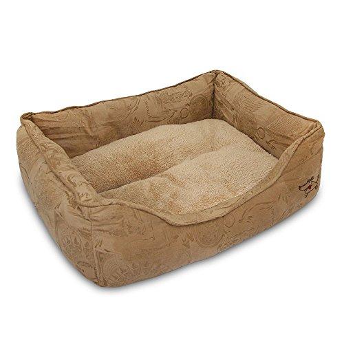 Best Pet Supplies Square Pet Bed - Brown, Medium