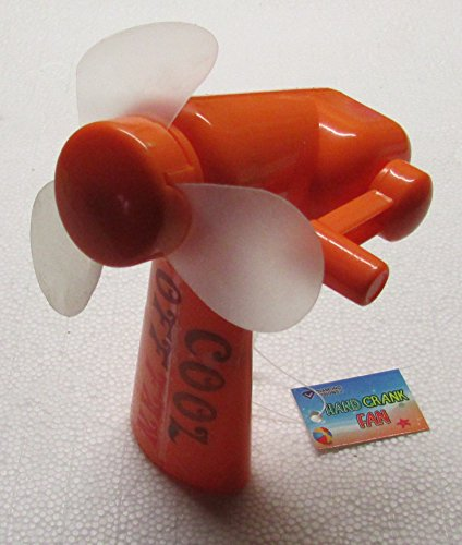 (Cool Off Orange Hand Crank FAN by Diamond Visions NEW)