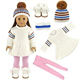 Best American Girl Crafts The American Girl Dolls - Barwa Doll White Sweater Skirt with Hat Snow Review