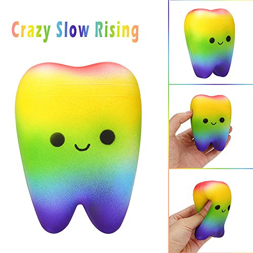 LtrottedJ Starry Rainbow Cute Squeeze Toy Slow Rising Cream Scented Stress Reliever Toy (E) for $<!--$3.33-->