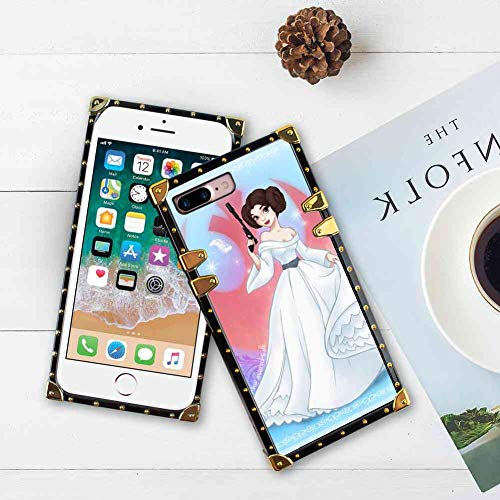 Square Edge Phone Case Compatible iPhone 8 Plus and iPhone 7 Plus [5.5 Version] Star Wars Disney Princess Leia]()