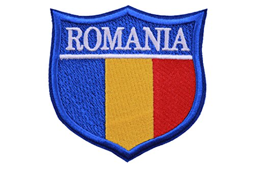 (World Flags Embroidered Patch Shield (3