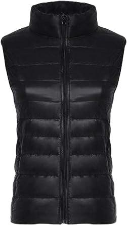 Joe Wenko Men Coat Waistcoat Stand Collar Warm Cotton-Padded Jacket Puffer Vest