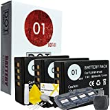 3x DOT-01 Brand Fujifilm X-T20 Batteries for Fujifilm X-T20 Mirrorless Digital Camera and Fujifilm XT20 Accessory Bundle for Fujifilm NPW126 NP-W126