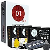 DOT-01 3X Brand Fujifilm X-A5 Batteries and Dual Slot USB Charger for Fujifilm X-A5 Mirrorless and Fujifilm X-A5 Battery and Charger Bundle for Fujifilm NPW126 NP-W126