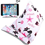 Plinrise Cute Fabric Phone Stands Ipad/Tablets Sofa/Pillow Holder, Lap Stand, Bean Bag, Soft Mounts For iPad Pro Air mini, iPad 4 3 2 1, Microsoft Surface Pro, E-Readers (Cat)