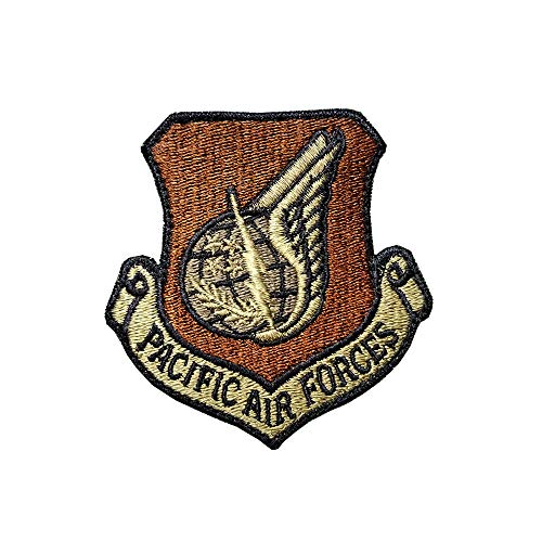US Air Force Pacific Air Forces (PACAF) OCP Scorpion Spice Brown Patch with Hook Fastener