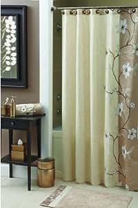 Croscill Magnolia Shower Curtain, 70 by 72-Inch, Bronze