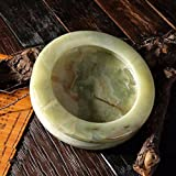 Ashtray Natural Jade Jade Ornaments Jade Jade Crafts Ashtray Ashtray Solid Fillet,A